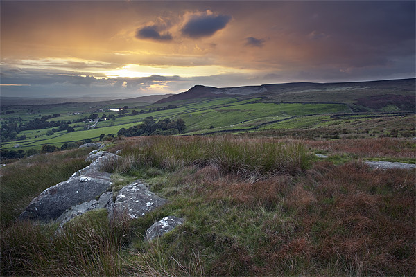An Embsay Crag Sunset Canvas print by Steve Glover