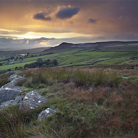 Buy canvas prints of An Embsay Crag Sunset by Steve Glover