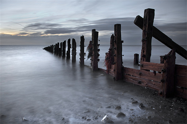 An October Dawn At The Spurn Print by Steve Glover