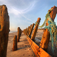 Buy canvas prints of Sunrise At The Spurn by Steve Glover