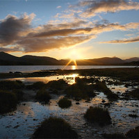 Buy canvas prints of Loch Tulla Sunset by Sandi Cockayne - Dalescapes.