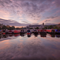 Buy canvas prints of  Apperley Bridge Marina by Sandi Cockayne-Dales