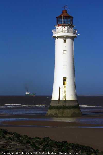 New brighton lighthouse Print by Colin irwin