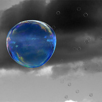 Buy canvas prints of Blue Bubble by Samantha Higgs