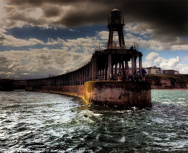 Whitby Pier Canvas print by Sean Wareing