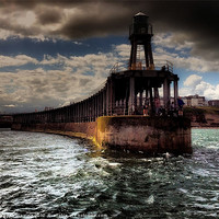 Buy canvas prints of Whitby Pier by Sean Wareing