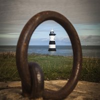 Buy canvas prints of Trwyn Du Lighthouse by Sean Wareing