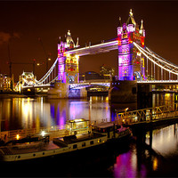 Buy canvas prints of Tower Bridge - New Clothes by peter tachauer