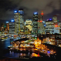 Buy canvas prints of Sydney Circular Quay by peter tachauer