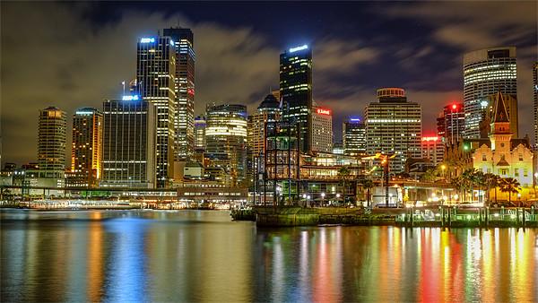 Sydney Circular Quay Canvas Print by peter tachauer