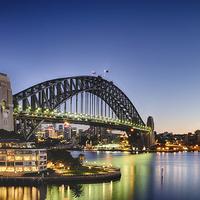 Buy canvas prints of  Sydney Harbour Bridge by peter tachauer
