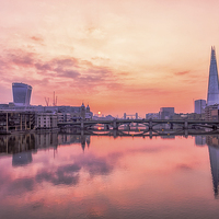 Buy canvas prints of  The Thames at Dawn by peter tachauer