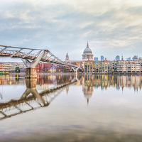 Buy canvas prints of  River Thames at Dawn by peter tachauer