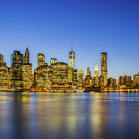 Buy canvas prints of  Manhattan Island  by peter tachauer