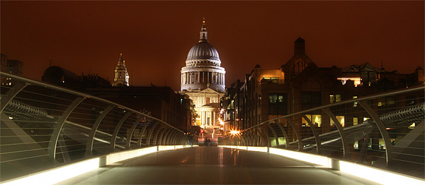 St Pauls Panorama Canvas print by peter tachauer