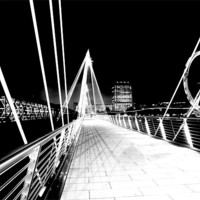 Buy canvas prints of Hungerford Bridge, London by peter tachauer
