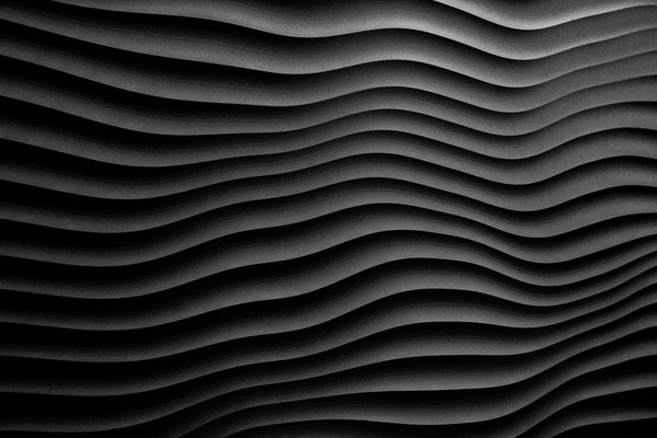 Abstract in Black Canvas print by peter tachauer