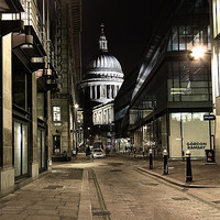 Buy canvas prints of Peekaboo St Paul's by peter tachauer