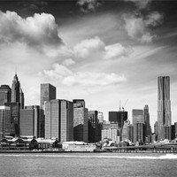 Buy canvas prints of East River to Manhattan by peter tachauer