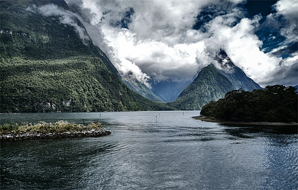 Milford Sound Canvas print by peter tachauer