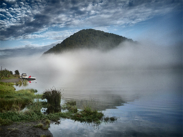 Lake - South Island, New Zealand Canvas print by peter tachauer