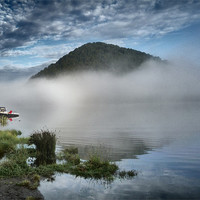 Buy canvas prints of Lake - South Island, New Zealand by peter tachauer