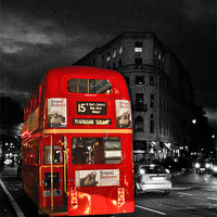 Buy canvas prints of Red London Bus by Dawn O'Connor