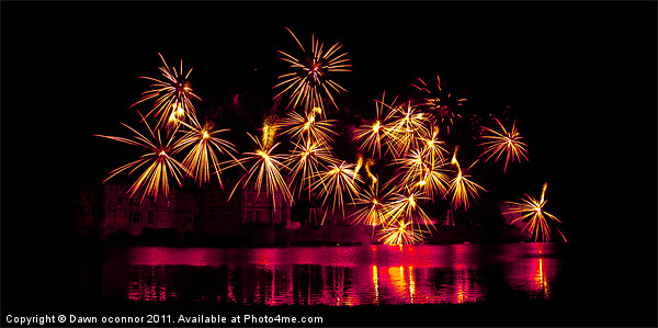 Leeds Castle Fireworks Canvas print by Dawn O'Connor