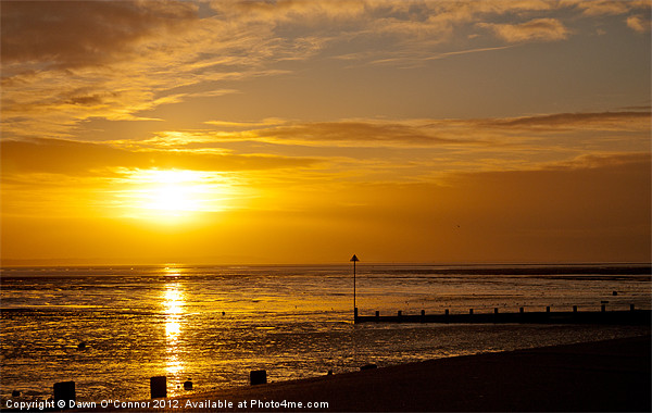 Southend on Sea,  Sunset Canvas print by Dawn O'Connor