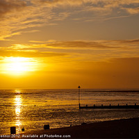 Buy canvas prints of Southend on Sea,  Sunset by Dawn O'Connor