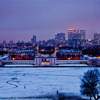 Buy canvas prints of Royal Greenwich Snow by Dawn O'Connor