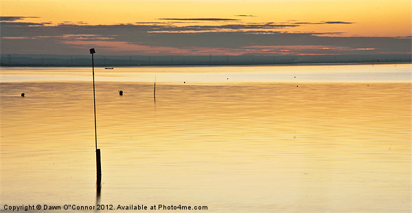 Whitstable Sunset Canvas print by Dawn O'Connor