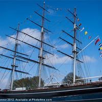 Buy canvas prints of The Cutty Sark by Dawn O'Connor