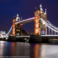 Buy canvas prints of Tower Bridge at Night by Dawn O'Connor