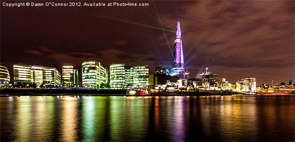 The Shard Lasers Canvas print by Dawn O'Connor