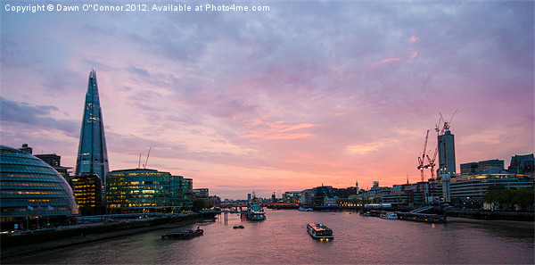 London Cityscape Sunset Canvas print by Dawn O'Connor