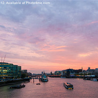 Buy canvas prints of London Cityscape Sunset by Dawn O'Connor