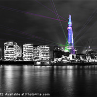 Buy canvas prints of The Shard Lasers by Dawn O'Connor