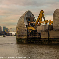 Buy canvas prints of Thames Barrier by Dawn O'Connor