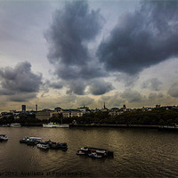 Buy canvas prints of River Thames by Dawn O'Connor