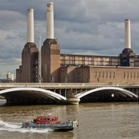 Buy canvas prints of Pink Floyd Pig at Battersea by Dawn O'Connor