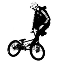 Buy canvas prints of BMX Rider in Black by Dawn O'Connor