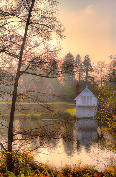 Boathouse Canvas print by Chris Manfield