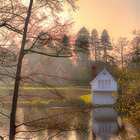 Buy canvas prints of Boathouse by Chris Manfield
