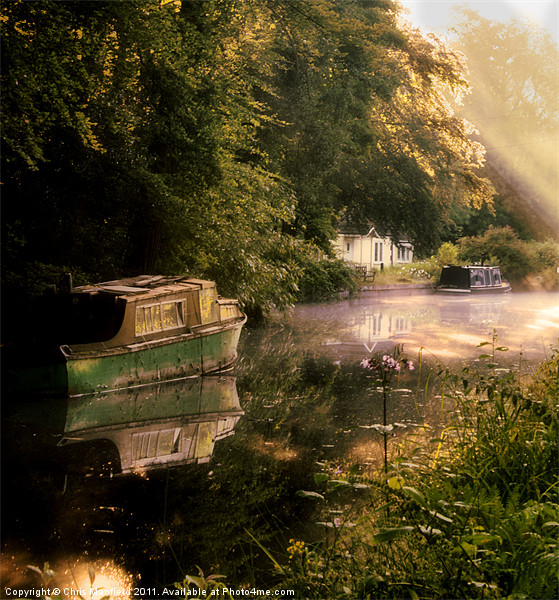 Canal cottage Canvas print by Chris Manfield