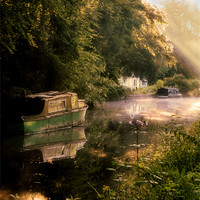 Buy canvas prints of Canal cottage by Chris Manfield