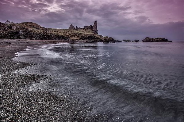 Dunure Coastline and Castle Canvas print by Sam Smith