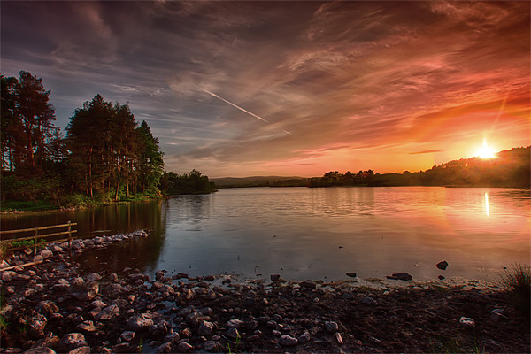 Knapps Loch Sunset Canvas print by Sam Smith