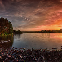 Buy canvas prints of Knapps Loch Sunset by Sam Smith