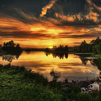 Buy canvas prints of Fire in the sky by Sam Smith